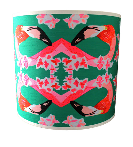 Flamingos and Flowers Abstract Lampshade, Chloe Croft