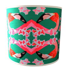 Flamingos and Flowers Abstract Lampshade, Chloe Croft Alternate View