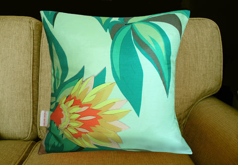 Tropical Flowers Cushion, Chloe Croft Alternate View
