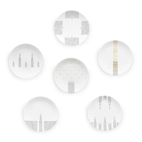 Symphony Set of 6 - Coupe Plate, Mira Santo - CultureLabel
