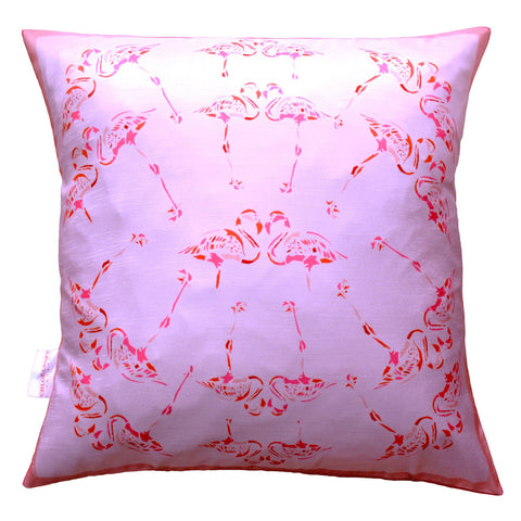 Fabulous Fuchsia Flamingos Cushion, Chloe Croft