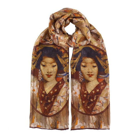 Geisha Girl George Henry Silk Scarf, National Galleries of Scotland - CultureLabel
