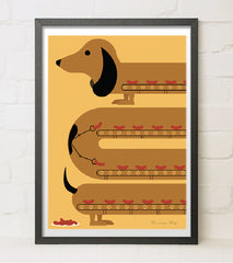 Sausage Dog, Needle Design Alternate View