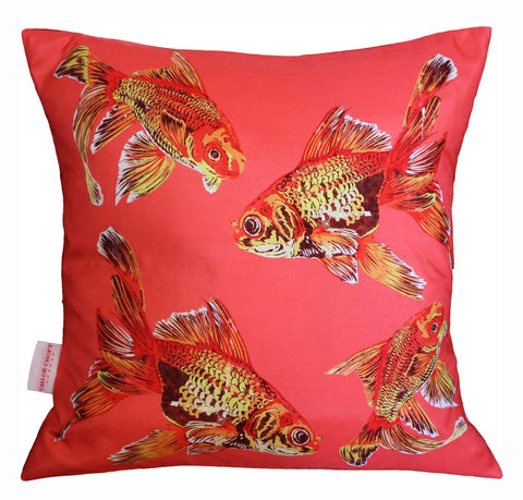 (full view) Goldfish Gaggle Cushion, Chloe Croft - CultureLabel - 1