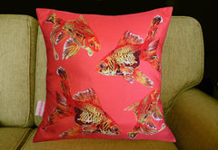 Goldfish Gaggle Cushion, Chloe Croft Alternate View