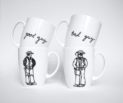 Bad Guy. Good Guy Mugs Set, Janet Milner