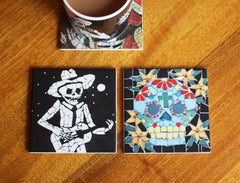 Juan and Skull Coaster Set, Juan is Dead Alternate View