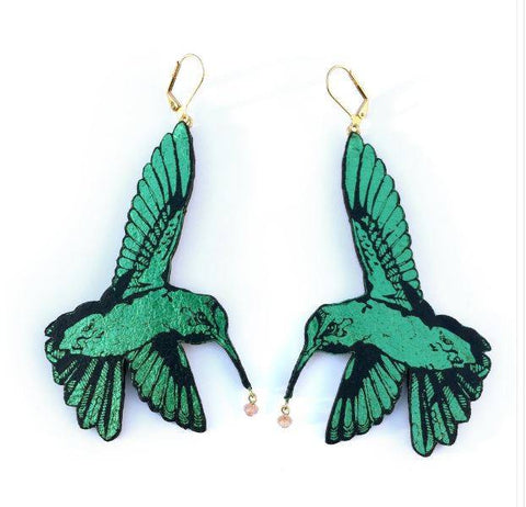Hummingbird Earrings, Rosita Bonita - CultureLabel - 1