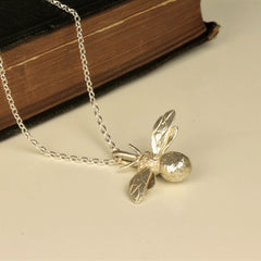 Handmade Sterling Silver Bumblebee Necklace, Pretty Wild Jewellery Alternate View