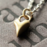 Handmade Wild at Heart Solid 9ct Gold Heart and Silver Necklace, Pretty Wild Jewellery - CultureLabel - 4