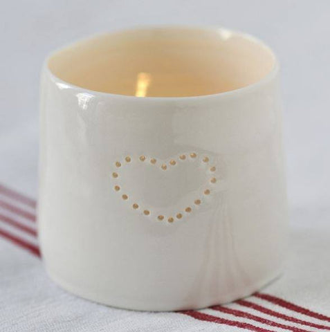 Love Heart Letter Linis Tealight Holder Set, Luna Lighting
