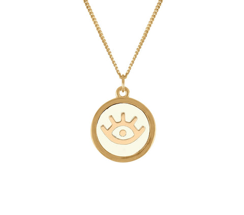 Evil Eye Pendant Necklace, Lee Renée