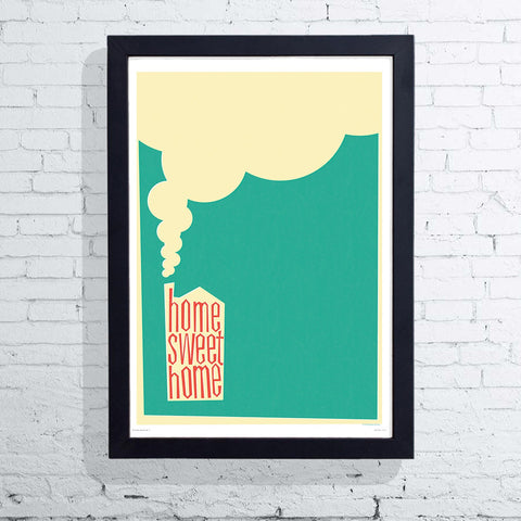 Retro Style Home Sweet Home (Framed), The Designers Nursery
