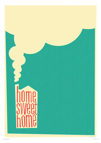 Retro Style Home Sweet Home (Framed), The Designers Nursery Alternate View