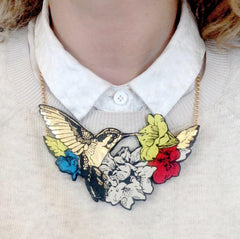 Hummingbird Necklace, Rosita Bonita Alternate View