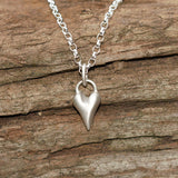 Handmade Wild at Heart Sterling Silver Heart Necklace, Pretty Wild Jewellery - CultureLabel - 6