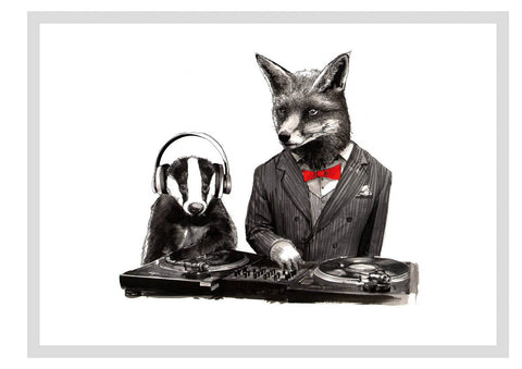 Dj Crafty Fox and MC Badger, Jimbobart - CultureLabel - 1 (full image)
