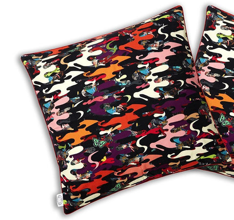 Ink Camo Silk Cushion Cover, Kristjana S Williams Alternate View