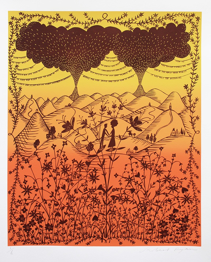 It Was Only The Beginning (Orange Fade), Rob Ryan - CultureLabel - 1