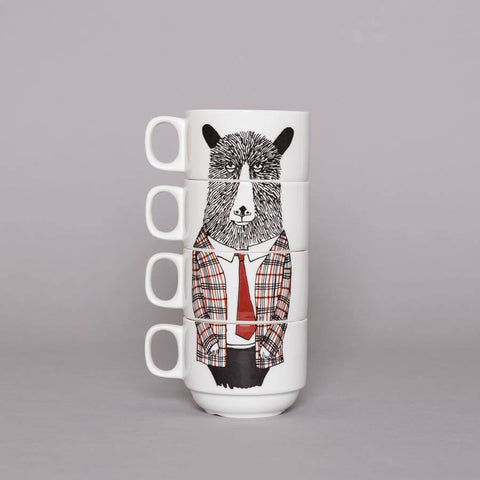 Mr Geography Teacher Coffee Cup Set, Jimbobart - CultureLabel