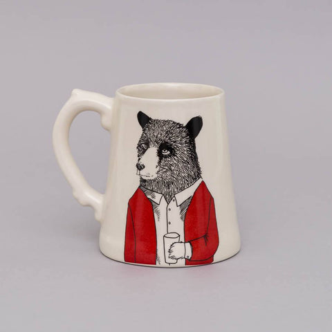 Mr Bear Beer Tankard, Jimbobart - CultureLabel