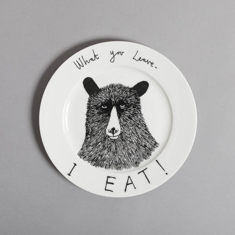 Hungry Bear Side Plate, Jimbobart - CultureLabel