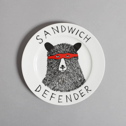 The Sandwich Defender Side Plate, Jimbobart - CultureLabel