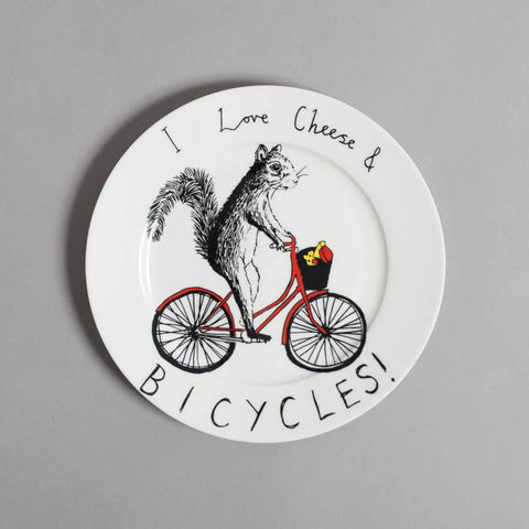 Cheese & Bicycles Side Plate, Jimbobart - CultureLabel