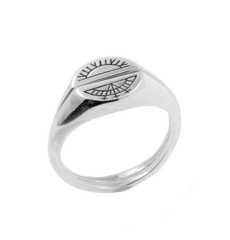 Sun & Moon Signet Rings - Silver, No 13