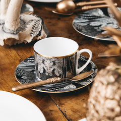 Wonderland Teacup and Saucer, Abi Overland Jersey