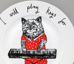 Keys For Cheese Side Plate, Jimbobart Alternate View