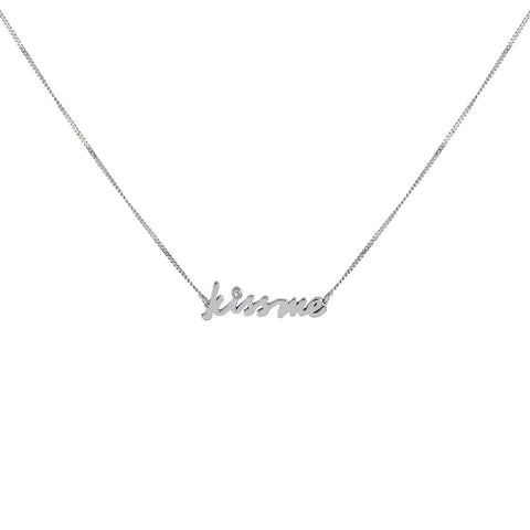 Positive Vibes Silver Necklace, Lee Renée - CultureLabel - 1