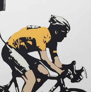 No More Heroes - Lance Armstrong - Canvas, Plastic Jesus Alternate View