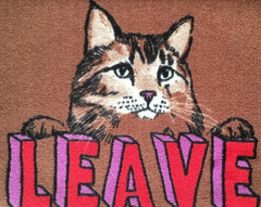 Leave Cat Welcome Doormat, Jimbobart Alternate View