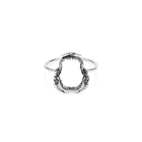 Shark Jawbone Ring - Silver, Lee Renée - CultureLabel