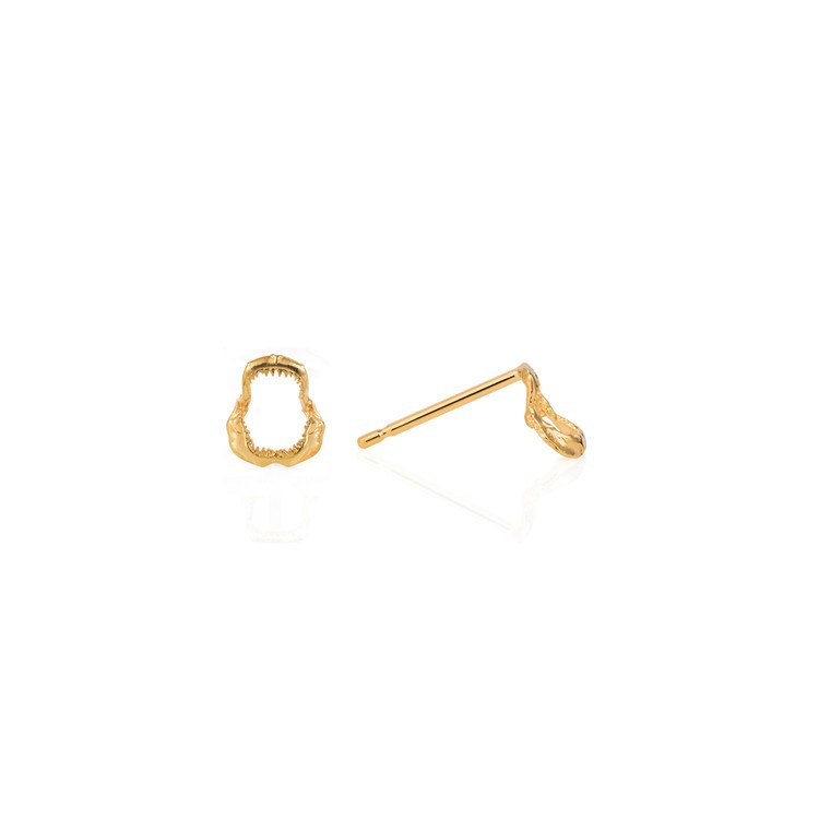 Shark Jawbone Mini Stud Earrings, Lee Renée - CultureLabel - 1