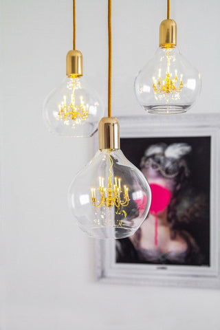 Gold King Edison Pendant Lamp Alternate View