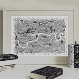 Literary London Map, Run For The Hills - CultureLabel - 2 (framed)