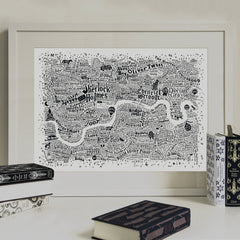 Literary London Map, Run For The Hills Alternate View