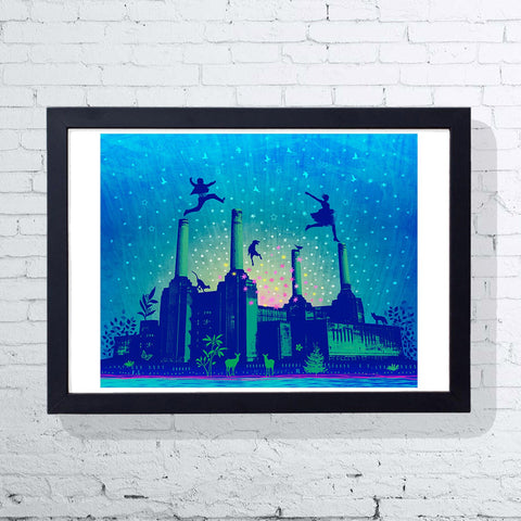 London By Night (Framed), East End Prints - CultureLabel