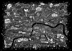 Film London Map Art Print (2017 Edition), Run For The Hills Alternate View