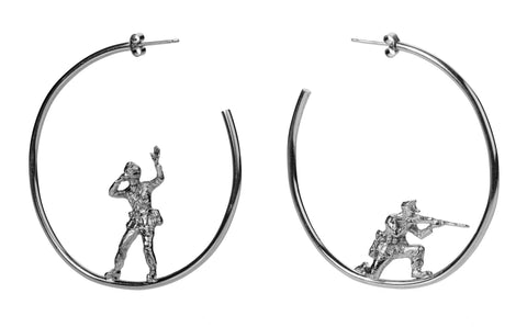 Lookout Soldier Earrings, Deborah Crow Jewellery