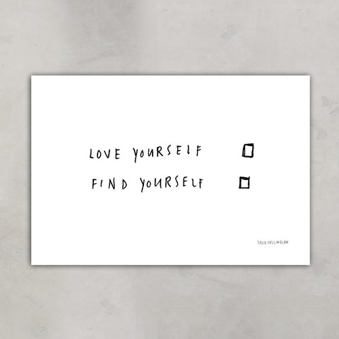 Love Yourself Find Yourself, David Shillinglaw x Mind