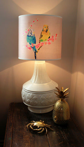 Loving Budgies Lampshade, Chloe Croft