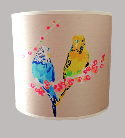 Loving Budgies Lampshade, Chloe Croft - CultureLabel