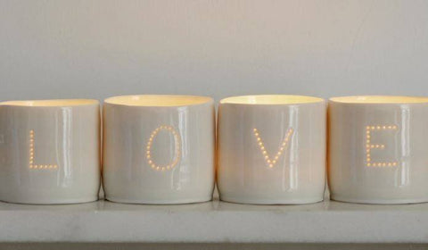 Love Letter Minis Tealight Holder Set, Luna Lighting - CultureLabel - 1