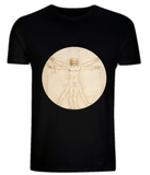 Leonardo Da Vinci: The Proportions Of The Human Figure (detail) T-Shirt - CultureLabel - 1