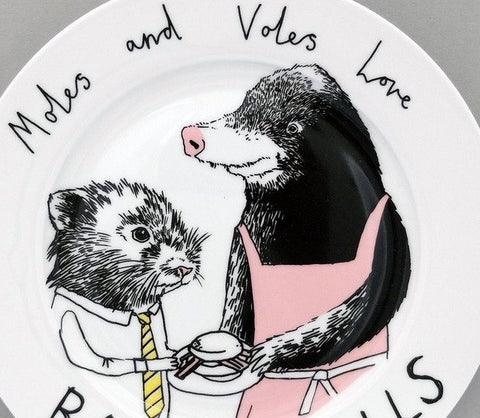 Moles And Voles Side Plate, Jimbobart