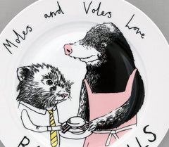 Moles And Voles Side Plate, Jimbobart Alternate View