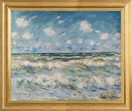 A Stormy Sea by Claude Monet 3d Reproduction, Versus Art